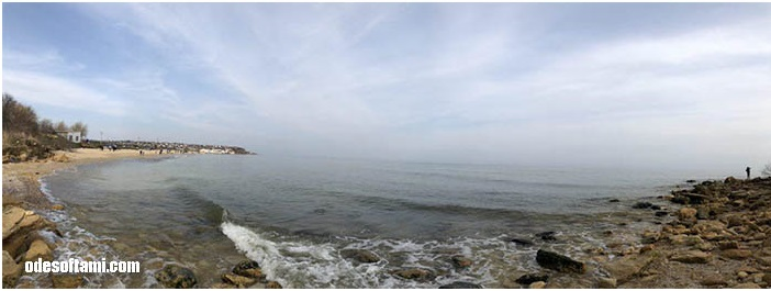 Евгения Пронина и пляж в Дофиновке