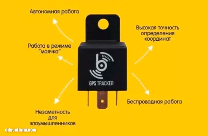 Beacon Car Противоугонное автомобильное реле с GPS-навигацией