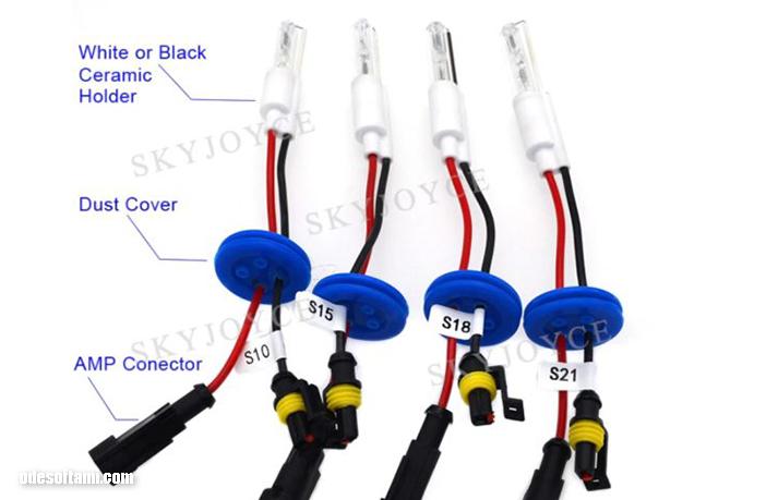 Безцокольные ксеноновые лампы S21 S18 S15 S10 для биксеноновой линзы