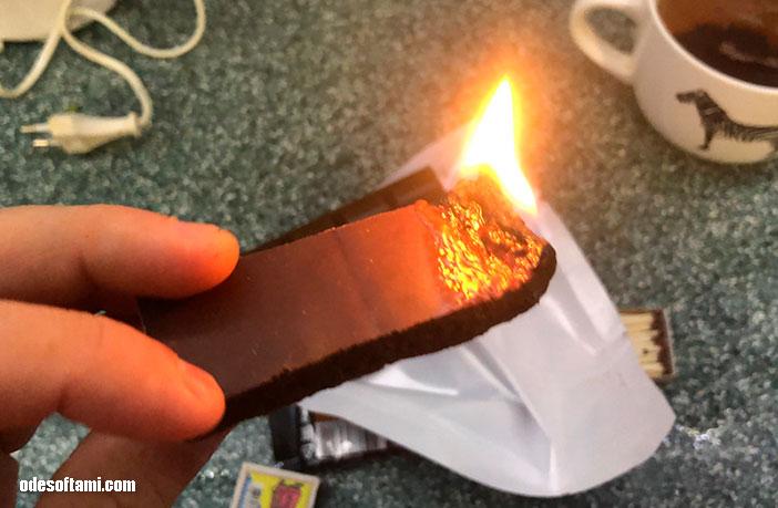 Шоколад ROSHEN горит