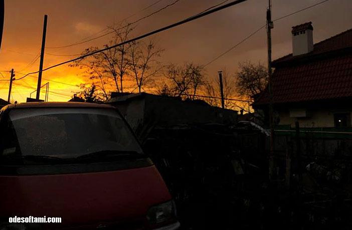Закат в Одессе, март 2019