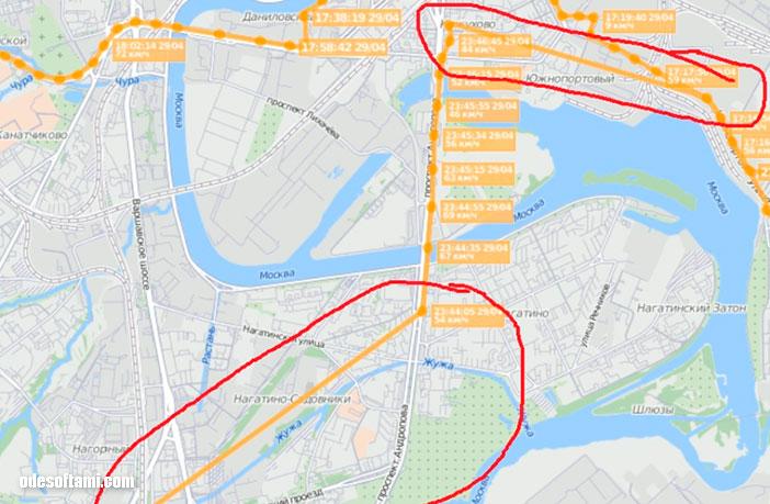 Трекер GPS реле LK720 ломаный трек строит - odesoftami.com