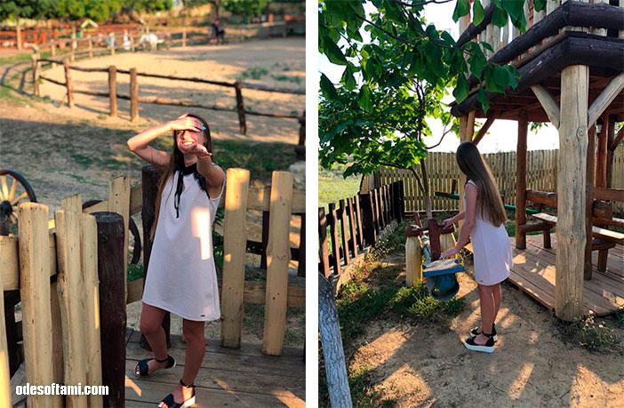 Анастасия Сандул нашла качельки в Ранчо дядюшка Бо. Одесская область - odesoftami.com