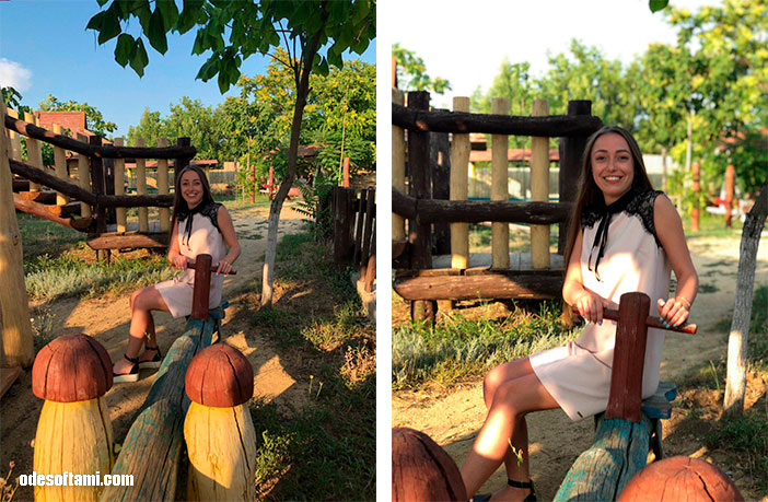 Анастасия Сандул и Денис Алексеенко  на качельках в Ранчо дядюшка Бо. Одесская область - odesoftami.com
