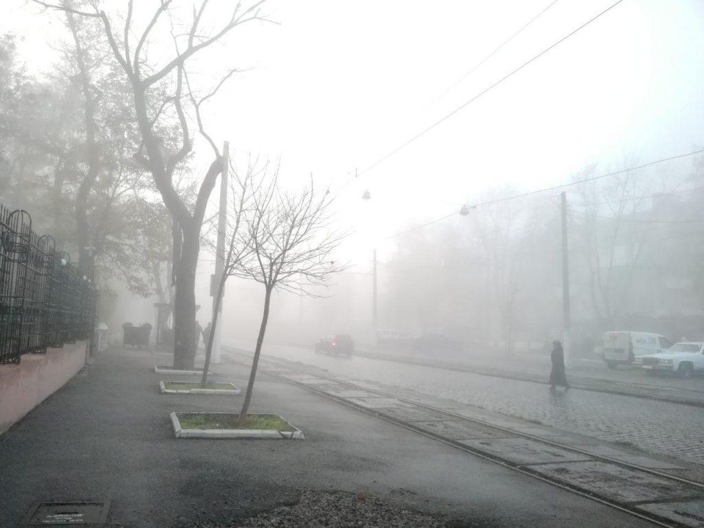 А у нас… Нет не газ))) туман…
