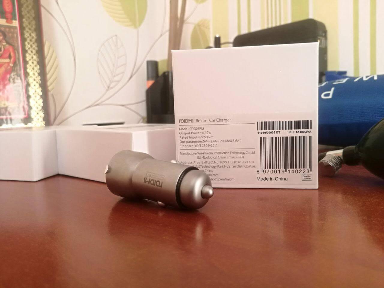 Посылка из Китая. Автомобильное зарядное устройство Xiaomi Roidmi C1