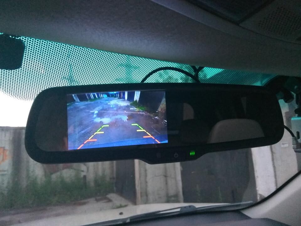 Посылка из Китая. Зеркалос GreenYi с автозатемнением и монитором 7630A057