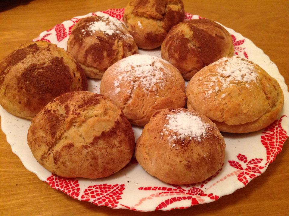 Ароматные булочки на йогурте ( кефире) к завтраку.