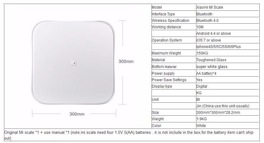 Напольные весы от Xiaomi XMTZC01HM