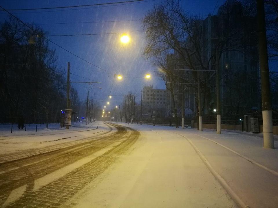День второй. Снежный-снежный… Зима в Одессе.