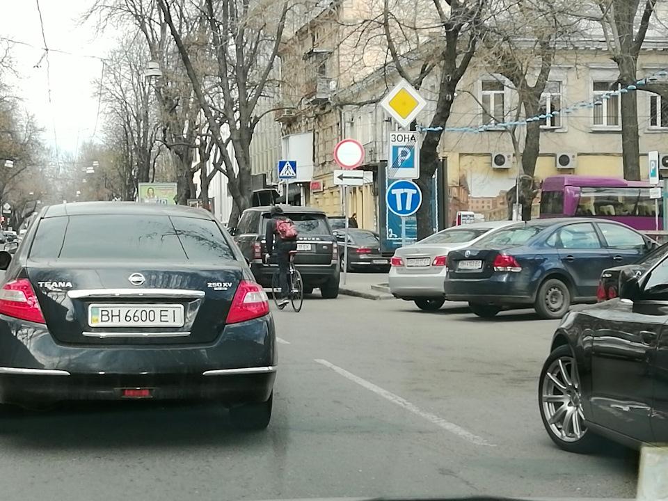 В Одессе появился новый дорожный знак…
