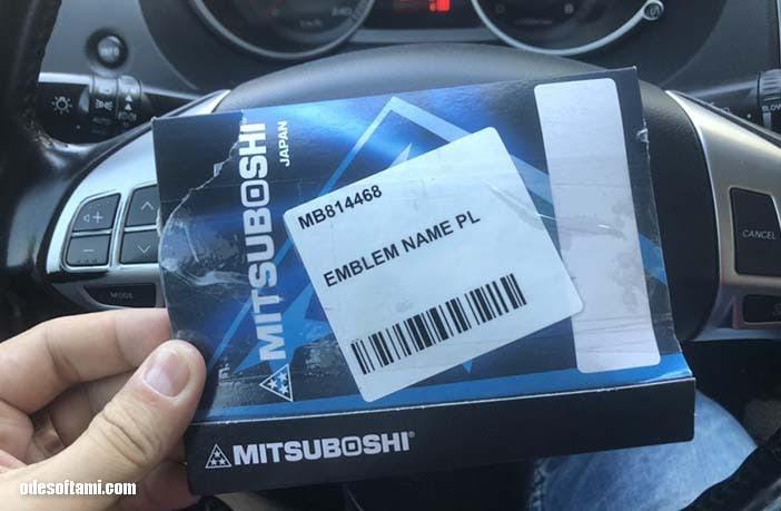 MB814468 наклейки на крылья Mitsubishi Outlander XL - odesoftami.com