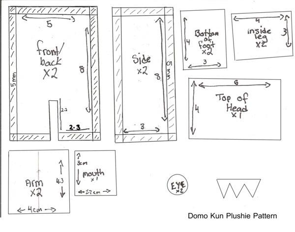 """Хенд мейд. Выкройка Domo-Kun + инструкция по пошиву """"зверька"""" для машины…"""