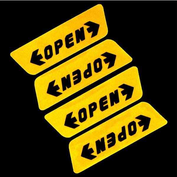 """Светоотражающие наклейки на торцах дверей """"open"""""""