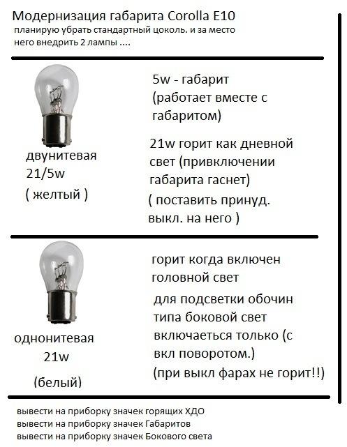 Бредовые идеи… полезные реализации))) Ходовые огни аля - америкос
