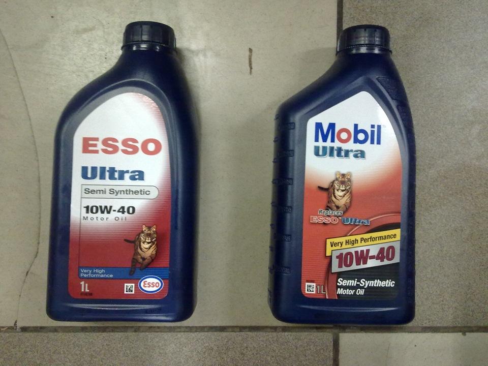 О масле. Mobil ESSO 10w40… в синих баклашках(((